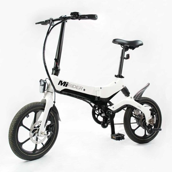 front and side view of electric folding bike