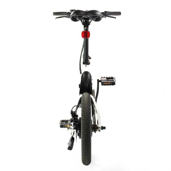 rear view of electric folding ebike