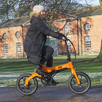 breeze up hills on an electric folding bike from MiRider